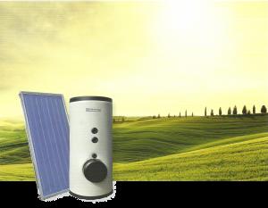 pannello solare e pompa di calore